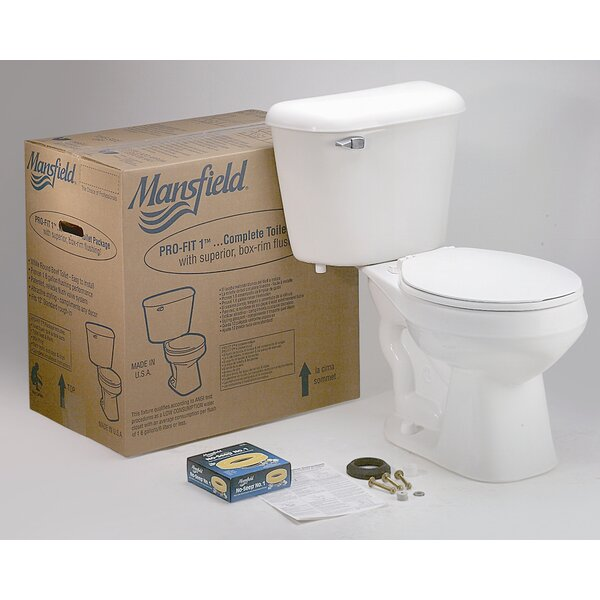 Pro-Fit 1 Front Complete 1.6 GPF Round Two-Piece Toilet by Mansfield Plumbing Products