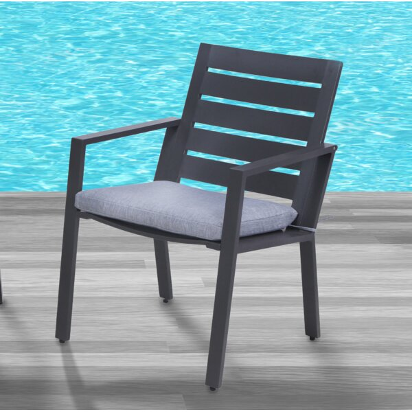 Moralez Patio Dining Chair with Cushion by Williston Forge