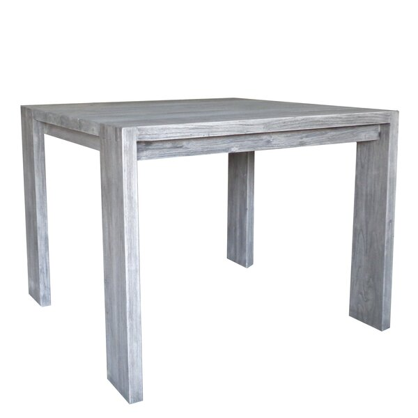 Epperson Solid Wood Dining Table by Rosecliff Heights
