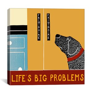 Life's Big Problems Banner by Stephen Huneck Painting Print on Wrapped Canvas by iCanvas