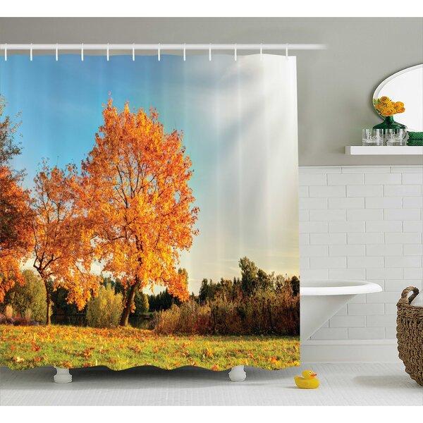Bleeker Decor Maple Tree Autumn Shower Curtain by Winston Porter