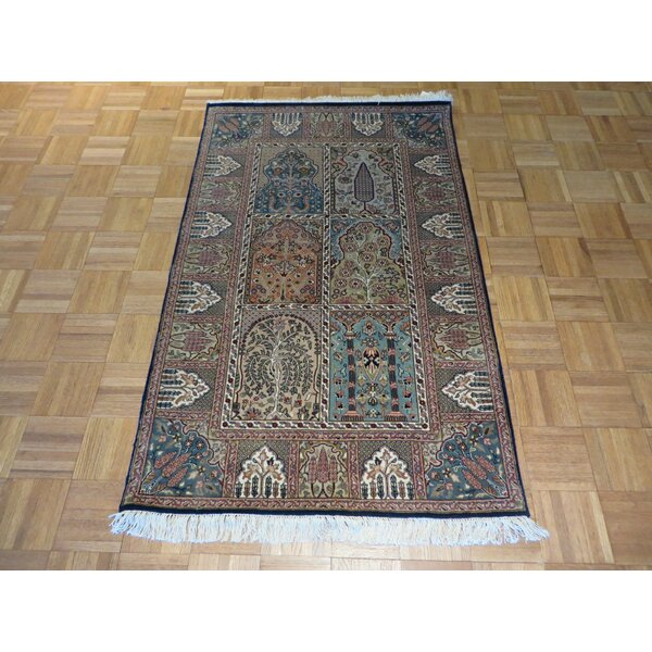 One-of-a-Kind Rakowski Hand-Knotted Wool Gray/Black Area Rug by Astoria Grand