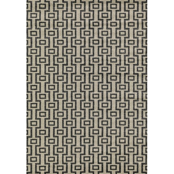 Cook Lara Helix Desert Contemporary Rectangular Rug by Mercer41