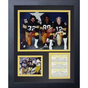 Pittsburgh Steelers 70's Big 3 Kneeling Framed Memorabili by Legends Never Die