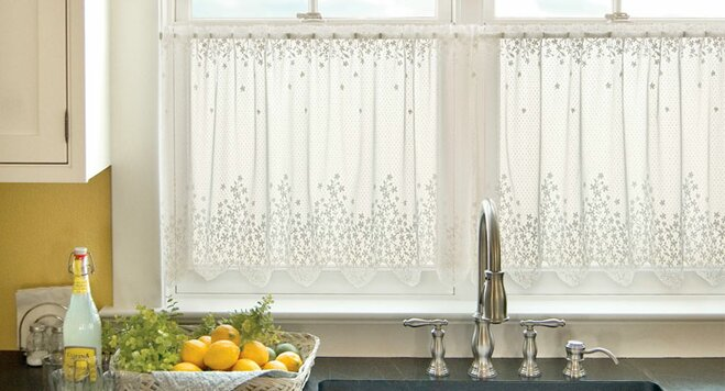 Kitchen Curtains bistro style kitchen curtains : Our Favorite Kitchen Curtains   Wayfair