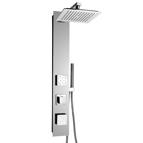 Rainfall Volume Control Adjustable Head Shower Pan