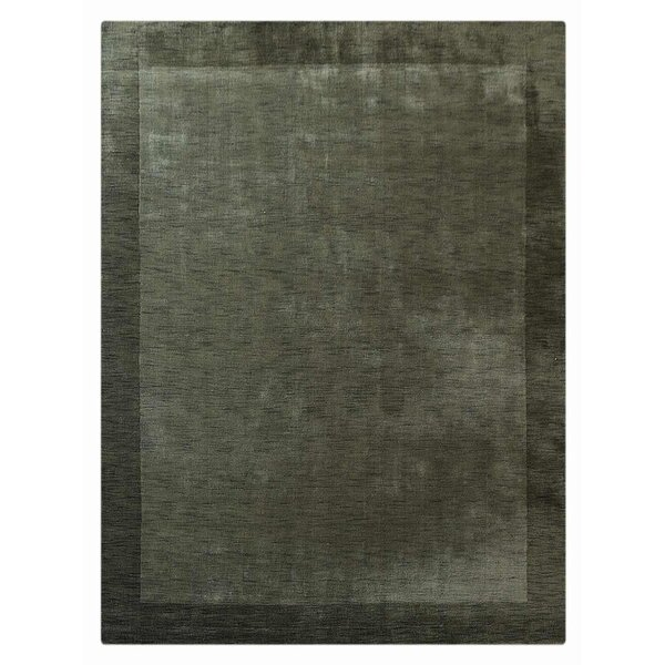 Manns Hand-Woven Wool Green Area Rug by Union Rustic