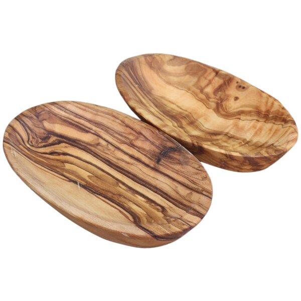 Olive Wood Serving Tray (Set of 2) by Le Souk Ceramique