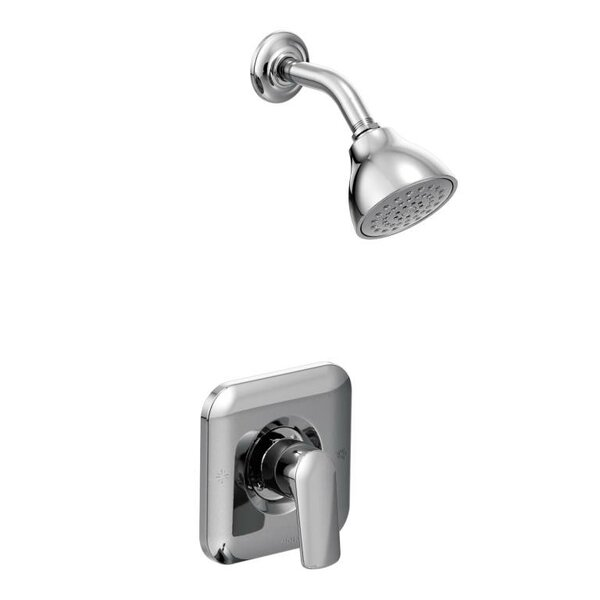 Rizon Chrome Shower Head with Handle and Posi-Temp by Moen