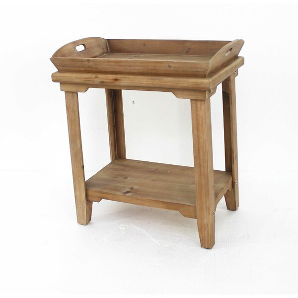 Charlena Wooden Tray Table by Rosalind Wheeler Rosalind Wheeler