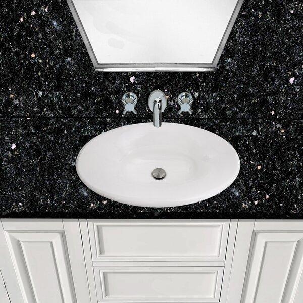 Regatta Fireclay Oval Drop-In Bathroom Sink by Nantucket Sinks