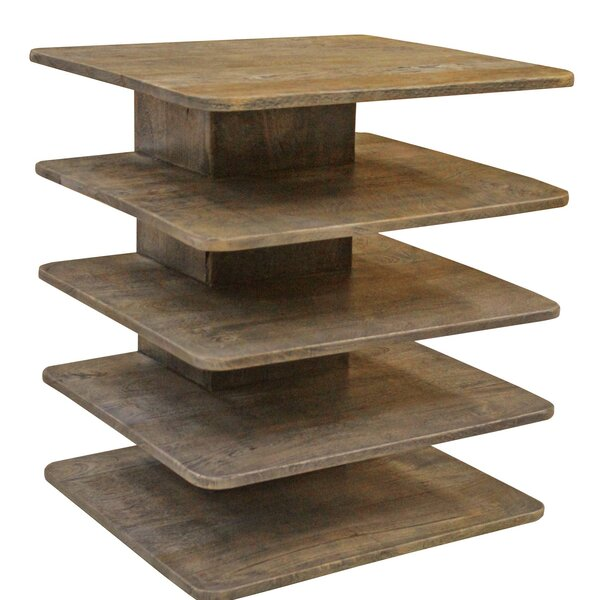 Brewington Mango Wood Tiered End Table by Brayden Studio