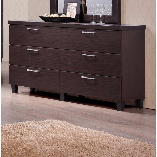 Emmeline 6 Drawers Double Dresser by Latitude Run