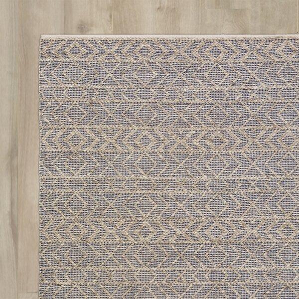 Between Cobalt/Light Gray Area Rug by Bungalow Rose