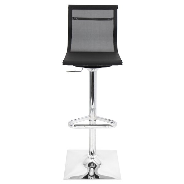 Bartow Adjustable Height Swivel Bar Stool by Wade Logan