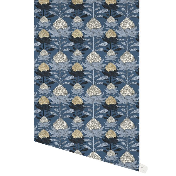 Losey Nautical Blossom 48 L x 24 W Paintable Peel and Stick Wallpaper Panel by Red Barrel Studio
