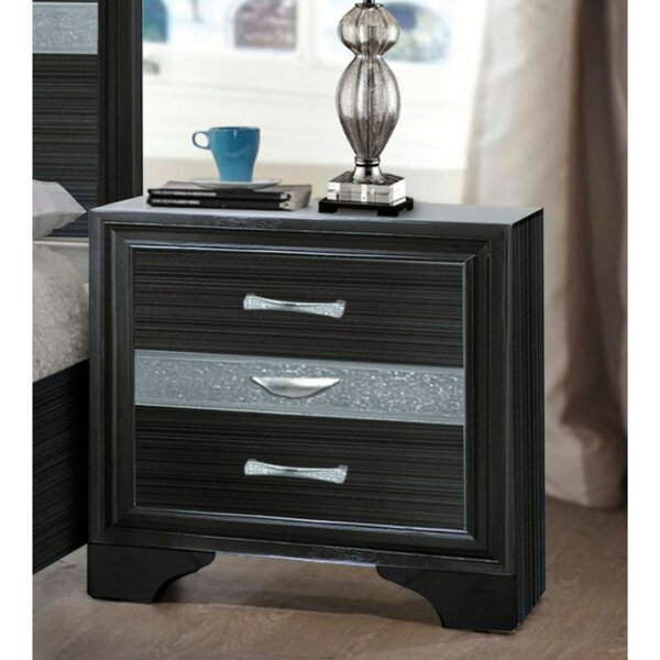 Trawick Wooden 3 Drawer Nightstand by Mercer41