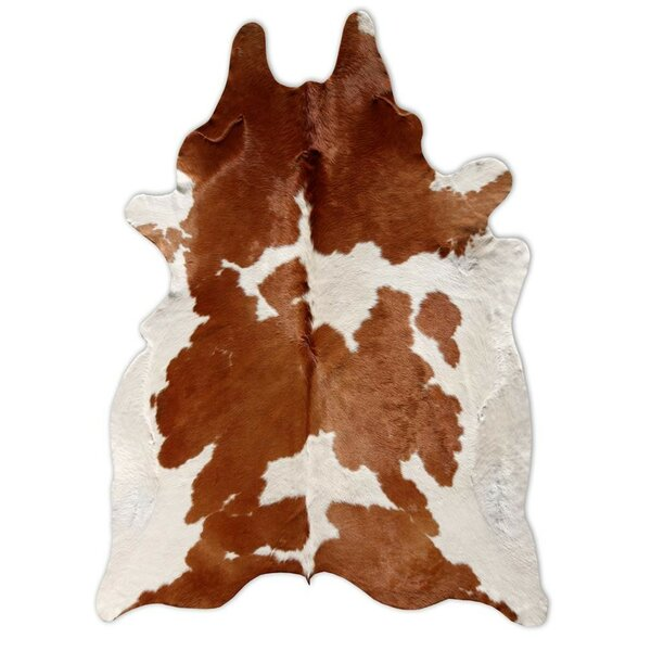 Leonardo Handmade Cowhide Light Brown Area Rug by Loon Peak