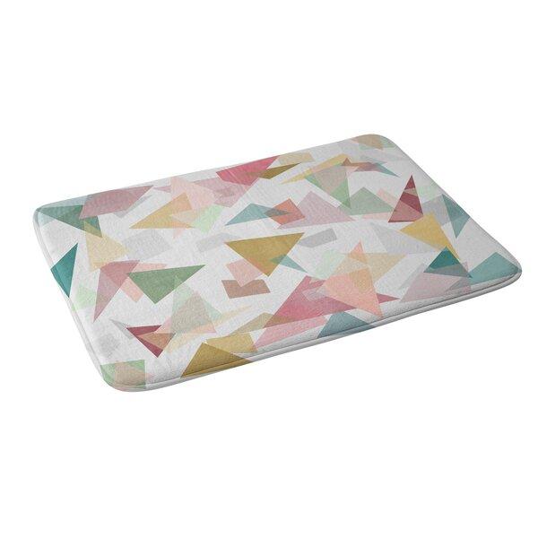 Mareike Boehmer Triangle Confetti 1 Memory Foam Bath Rug