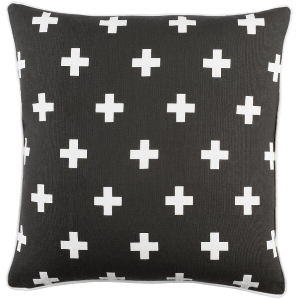 Antonia Contemporary Square Cotton Throw Pillow by Langley Street