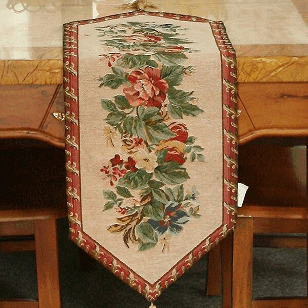 Yuletide Blooms Table Runner (Set of 4) by Tache Home Fashion