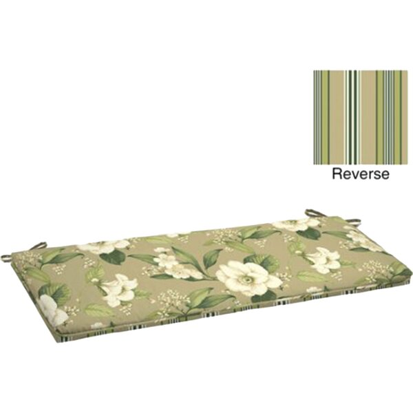 Allie Floral Indoor/Outdoor Bench Cushion by Comfort Classics Inc.
