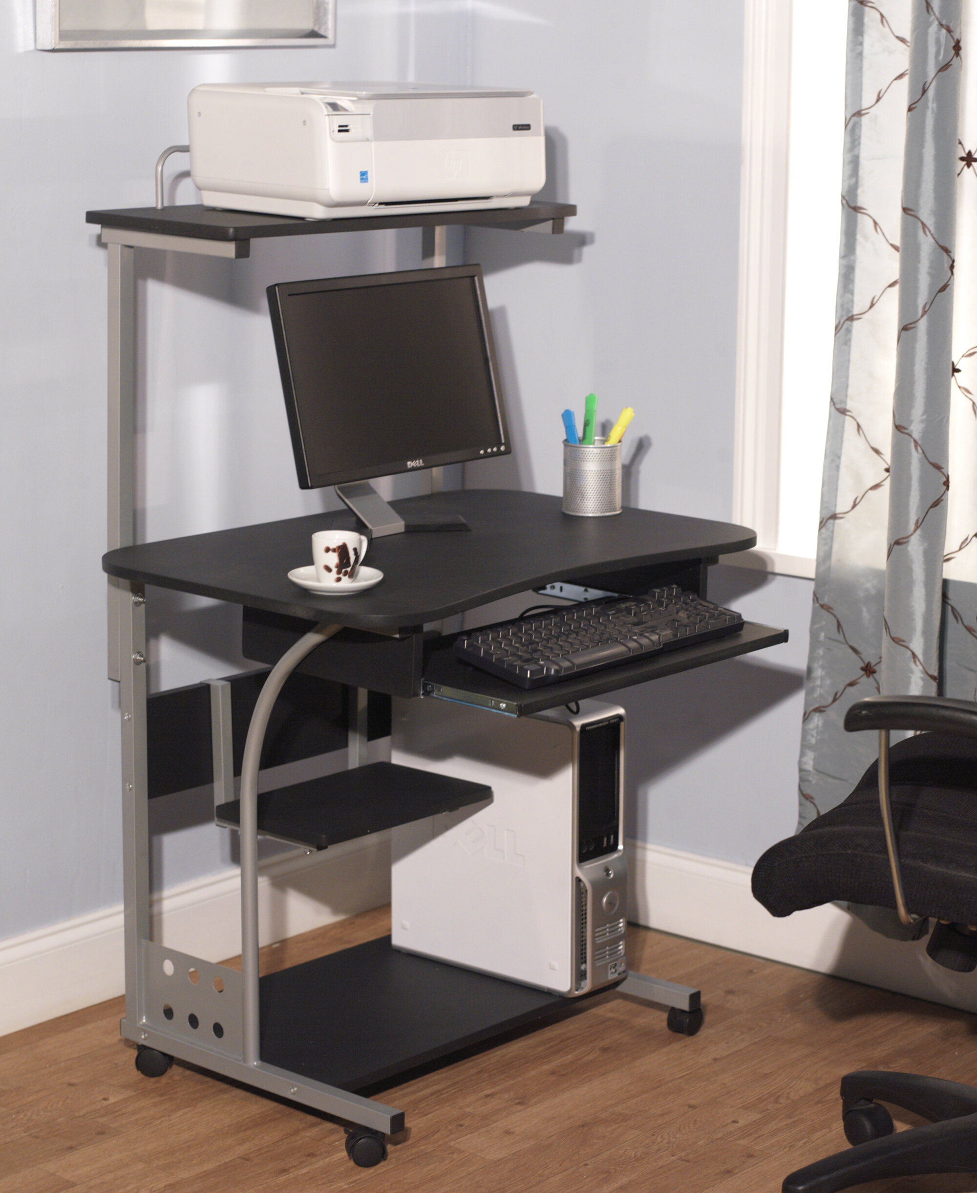 TMS Computer Desk With Hutch U0026 Reviews | Wayfair