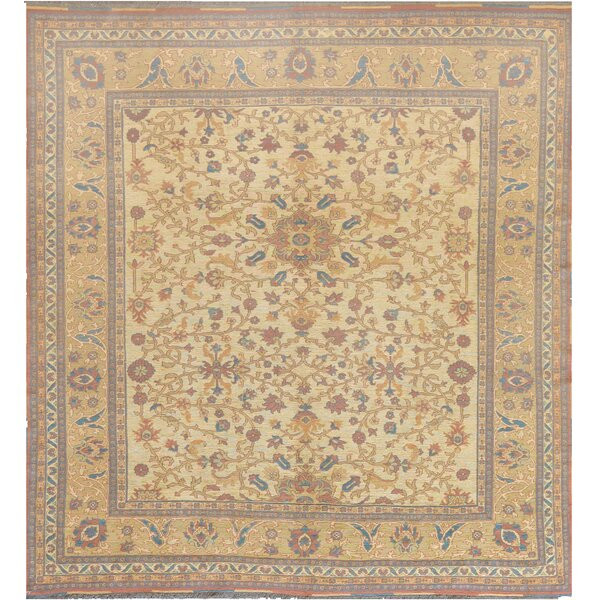 One-of-a-Kind Sumack Fine Hand-Knotted Wool Ivory/Beige Indoor Area Rug by Mansour