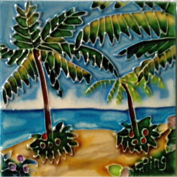 Palm Tile Wall Decor by Continental Art Center
