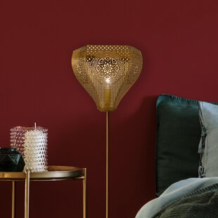 Savings Andes 1-Light Pierced Metal Plug-In Wall Sconce Flush Mount By Bloomsbury Market