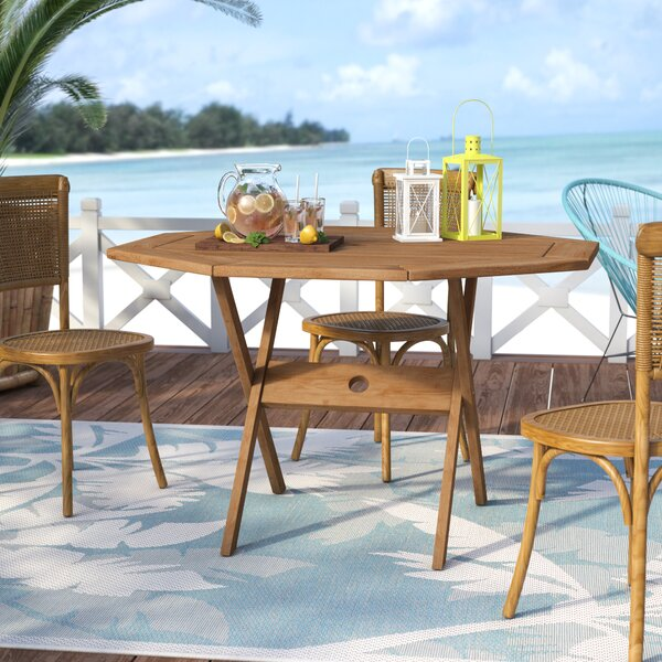 Elsmere Octogonal Dining Table by Beachcrest Home