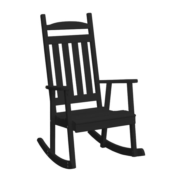 Dempsey Classic Porch Rocking Chair by Rosalind Wheeler
