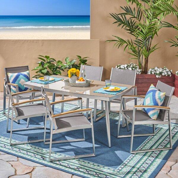 Bonifacio Outdoor 7 Piece Dining Set by Ivy Bronx