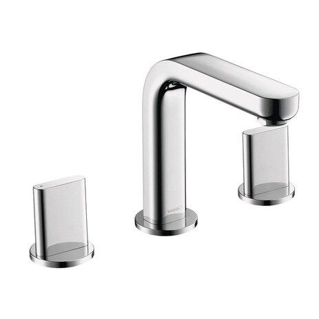 Metris Widespread Bathroom Faucet with Drain Assembly by Hansgrohe