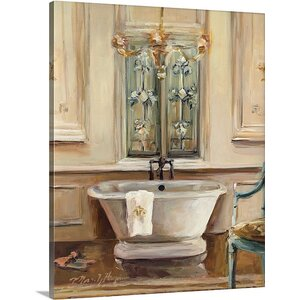 'Classical Bath III' by Marilyn Hageman Painting Print on Canvas by Great Big Canvas
