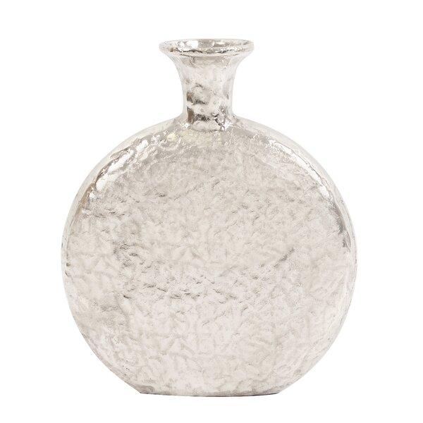 Round Silver Table Vase by Brayden Studio