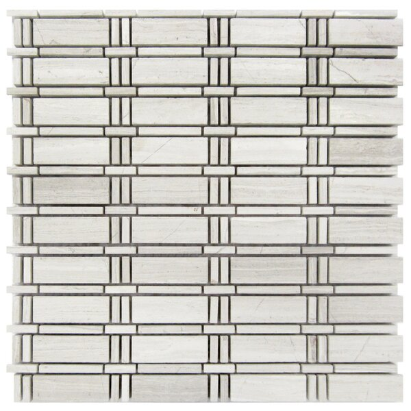 Stream Line 1 x 2 Wood Mosaic Tile in Gray by Luxsurface