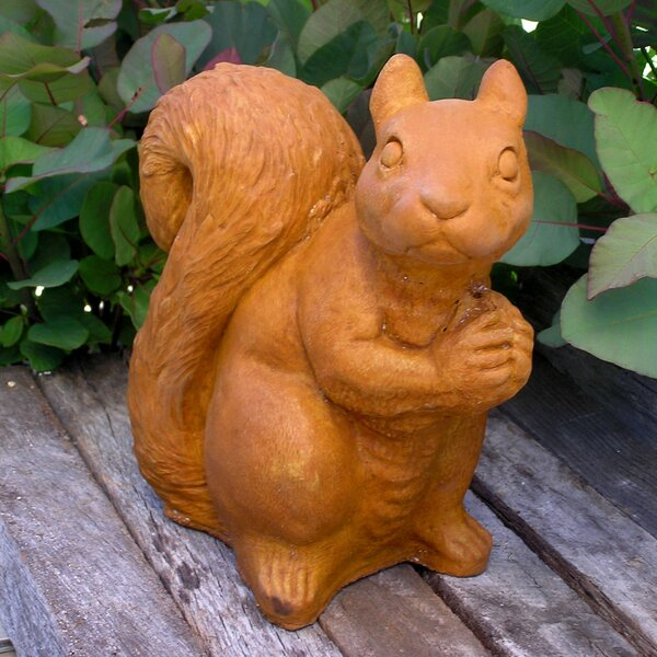 Sitting Squirrel Statue by Nichols Bros. Stoneworks