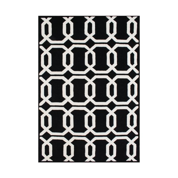Umapine Hand-Tufted Black/White Area Rug by The Conestoga Trading Co.