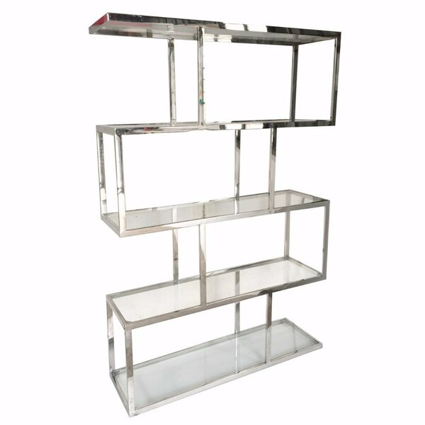 Funderburk Vesey Geometric Bookcase by Everly Quinn