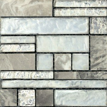 Vista 12 x 12 Glass Stone Blend Pattern Mosaic Tile in Backdrop by Emser Tile