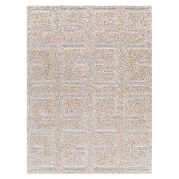 Artz Beige/White Area Rug by Brayden Studio