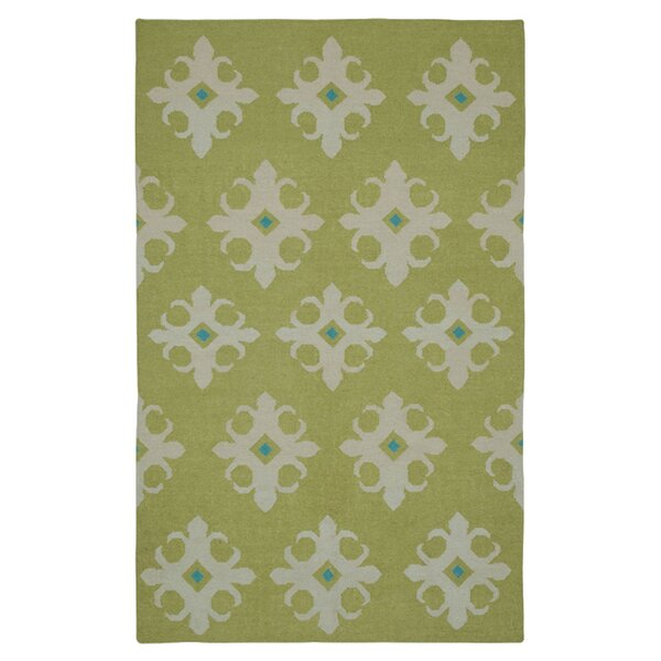 Hand-Woven Green Area Rug by The Conestoga Trading Co.