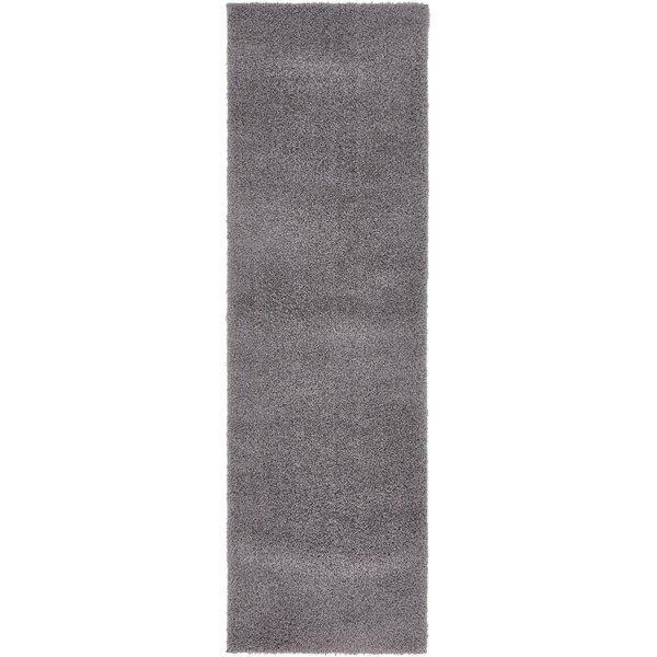 Virgil Solid Shag Dark Gray Area Rug by Zipcode Design
