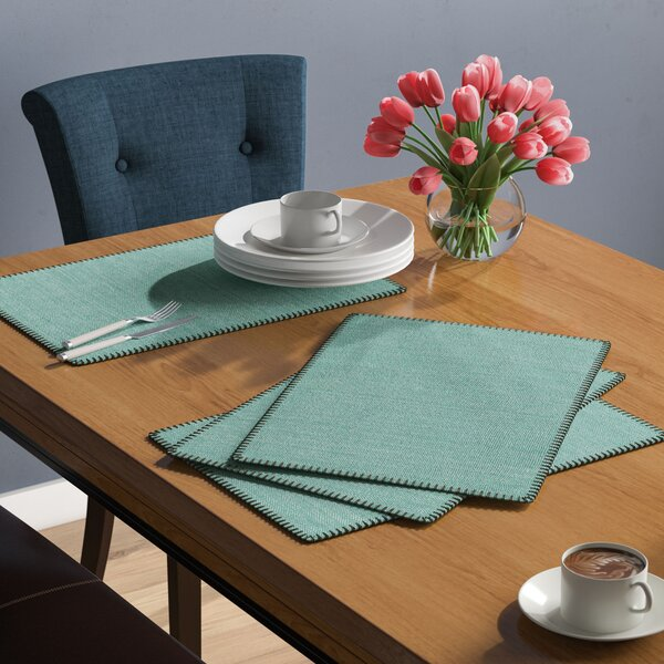 Kaiser Whip Stitched Design Placemat (Set of 4) by Three Posts
