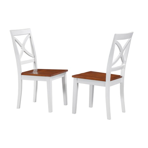 Troutt Solid Wood Dining Chair (Set of 2) by August Grove August Grove