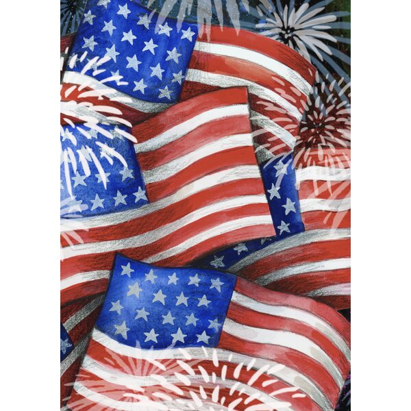 Sparkling Old Glory Garden flag by Toland Home Garden