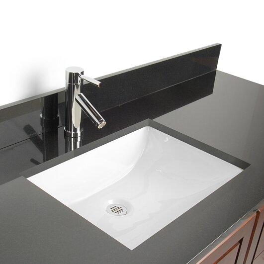 Delightful Vitreous China Rectangular Undermount Bathroom Sink With Overflow