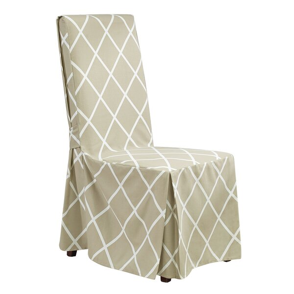 Lattice Parson Chair Skirted Slipcover By Sure Fit