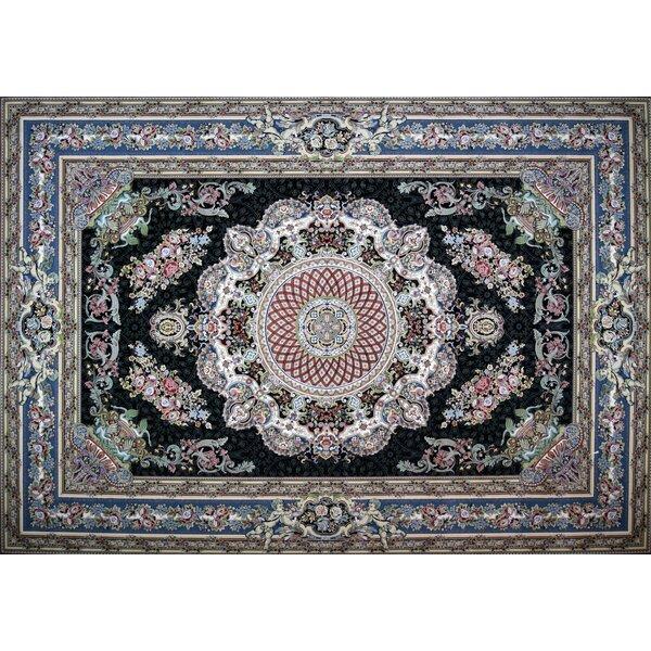 Marotta Hand Look Persian Wool Blue/Red/Purple Area Rug